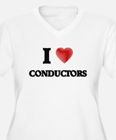 I love Conductors (Heart made fr Plus Size T-Shirt