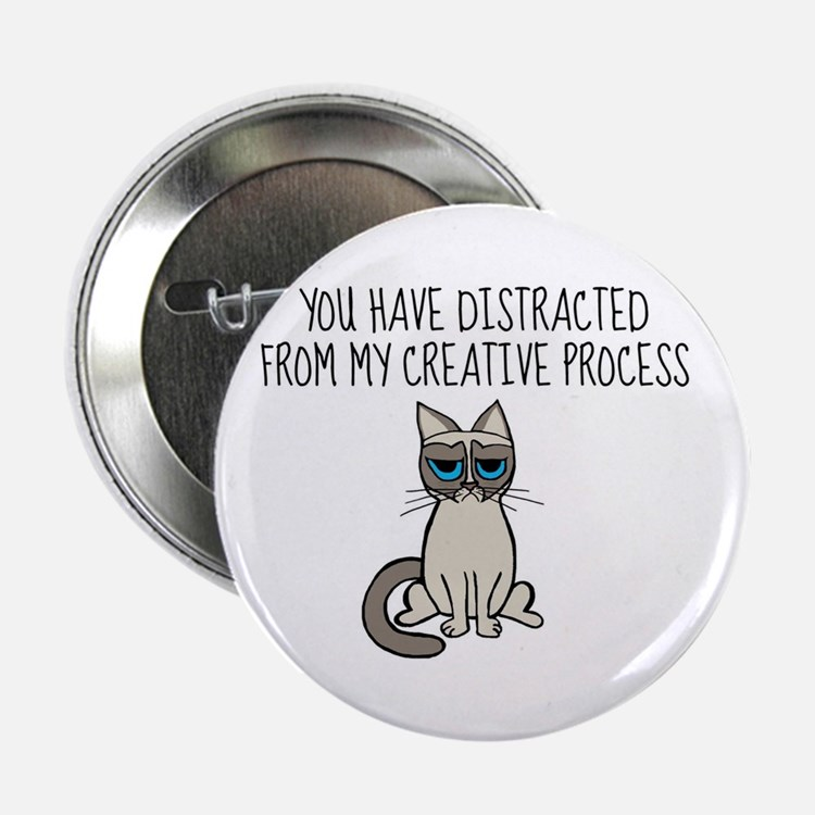 """Distracted Kanye Grumpy Cat 2.25"""" Button"""