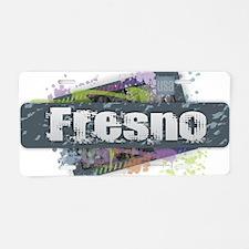 Fresno Design Aluminum License Plate