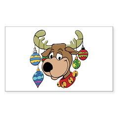 Reindeer Rectangle Decal