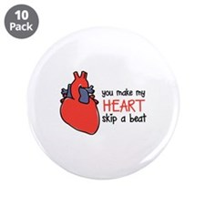 "Make My Heart Skip 3.5"" Button (10 pack)"