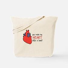 Make My Heart Skip Tote Bag