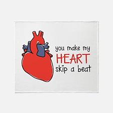 Make My Heart Skip Throw Blanket