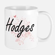 Hodges surname artistic design with Butterfli Mugs