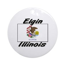 Elgin Illinois Ornament (Round)