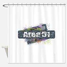 Area 51 Design Shower Curtain