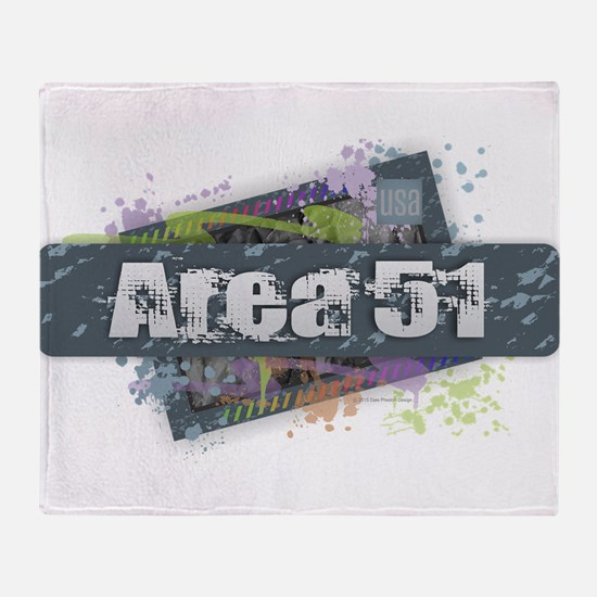 Area 51 Design Throw Blanket