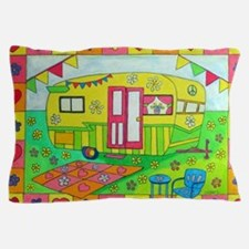 Cute Camping Pillow Case
