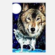 Cool Wolf woods Postcards (Package of 8)