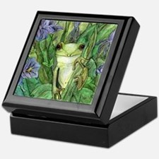 Cute Deer glass Keepsake Box