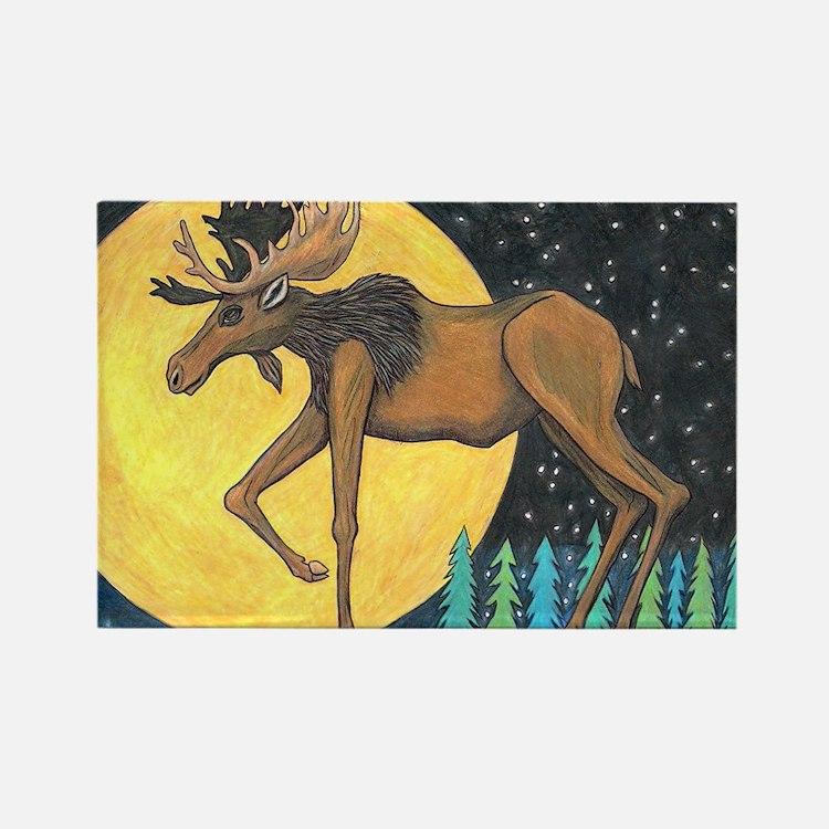 Cute Deer glass Rectangle Magnet