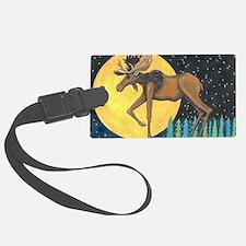 Unique Moose illustration Luggage Tag