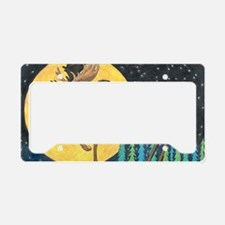 Cute Dog camping License Plate Holder