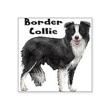 "Cute Doggie Square Sticker 3"" x 3"""