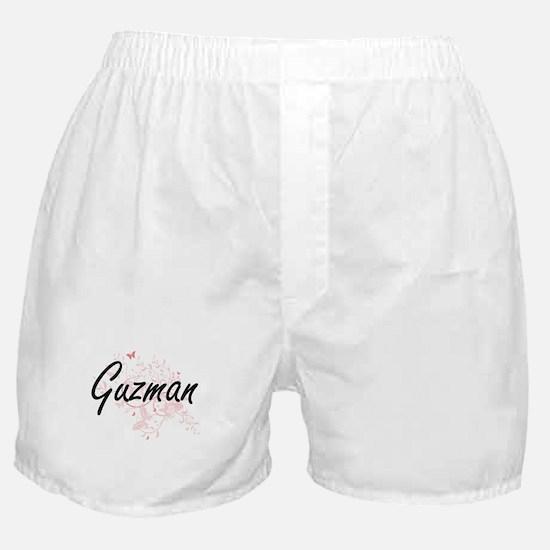 Guzman surname artistic design with B Boxer Shorts