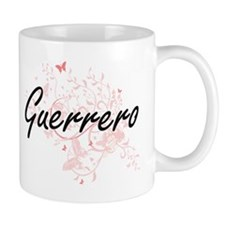 Guerrero surname artistic design with Butterf Mugs