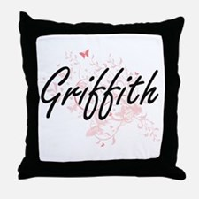 Griffith surname artistic design with Throw Pillow