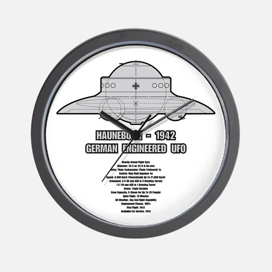 Haunebu II Flying Disc Wall Clock
