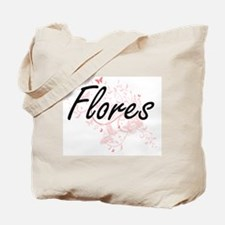 Flores surname artistic design with Butte Tote Bag