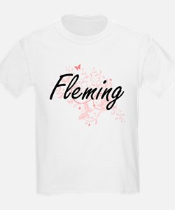Fleming surname artistic design with Butte T-Shirt