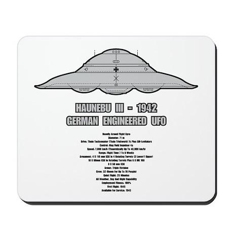 Haunebu III Flying Disc Mousepad