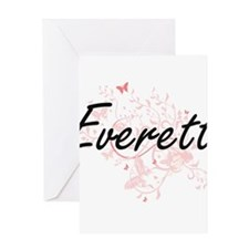 Everett surname artistic design wit Greeting Cards