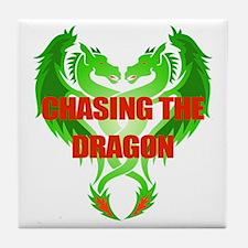 Chasing The Dragon Tile Coaster
