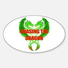 Chasing The Dragon Sticker (oval)