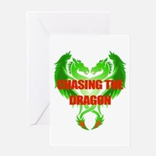 Chasing The Dragon Card Greeting Cards