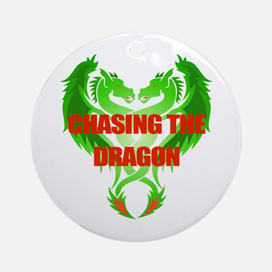 Chasing The Dragon Round Ornament