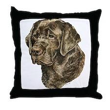 Labrador Retriever Dog Portrait Throw Pillow