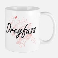 Dreyfuss surname artistic design with Butterf Mugs