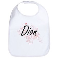 Dion surname artistic design with Butterflies Bib