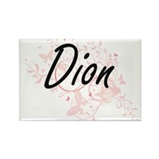 Dion surname artistic design with Butterfl Magnets