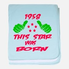 1958 This star was born baby blanket