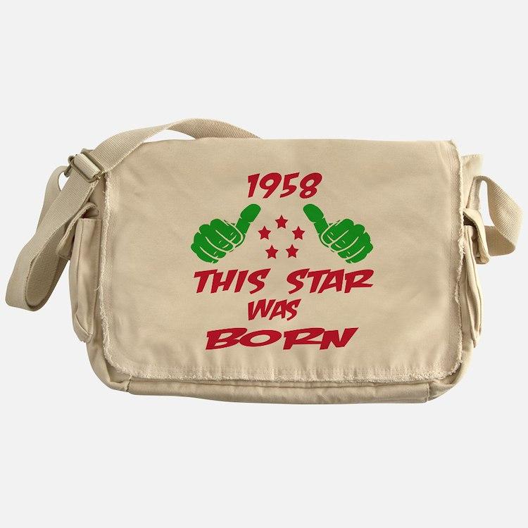 1958 This star was born Messenger Bag