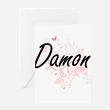 Damon surname artistic design with Greeting Cards
