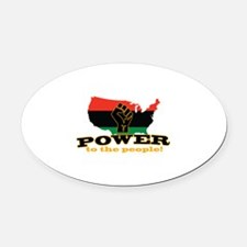 Power To People Oval Car Magnet