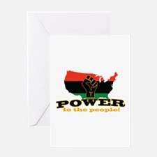 Power To People Greeting Cards