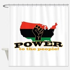 Power To People Shower Curtain