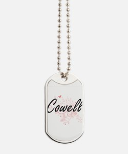 Cowell surname artistic design with Butte Dog Tags
