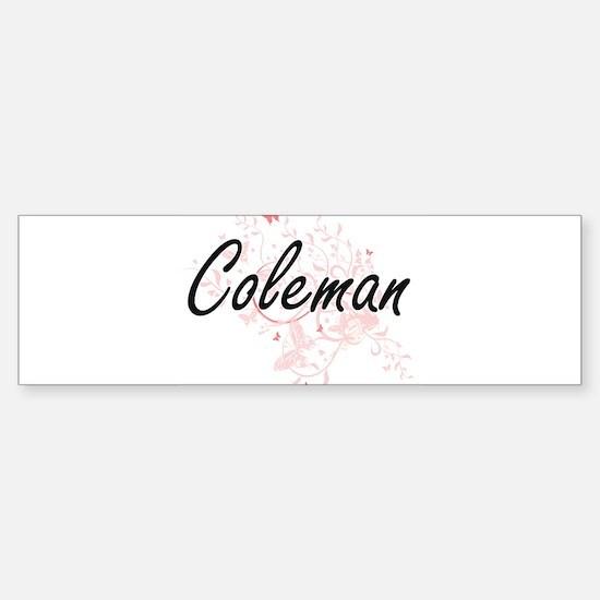 Coleman surname artistic design wit Bumper Bumper Bumper Sticker
