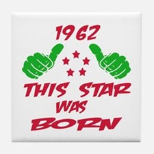 1962 This star was born Tile Coaster