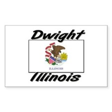 Dwight Illinois Rectangle Decal