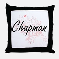 Chapman surname artistic design with Throw Pillow