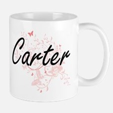 Carter surname artistic design with Butterfli Mugs