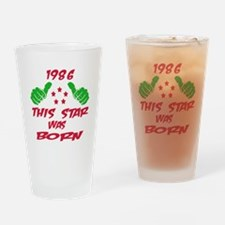 1986 This star was born Drinking Glass