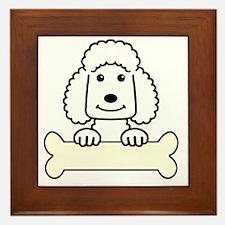 Standard poodle cartoon Framed Tile