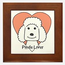 Cool Standard poodle cartoon Framed Tile