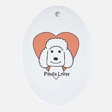 Unique Chocolate standard poodle Oval Ornament